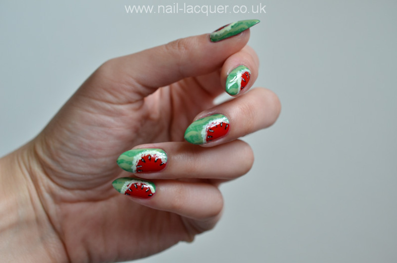 Watermelon nail art nail art by A. J.