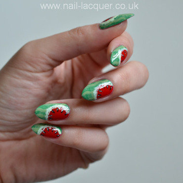 Watermelon nail art nail art by A. J.