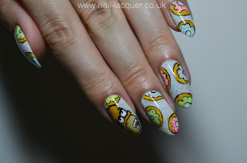 Doughnuts nail art  nail art by A. J.