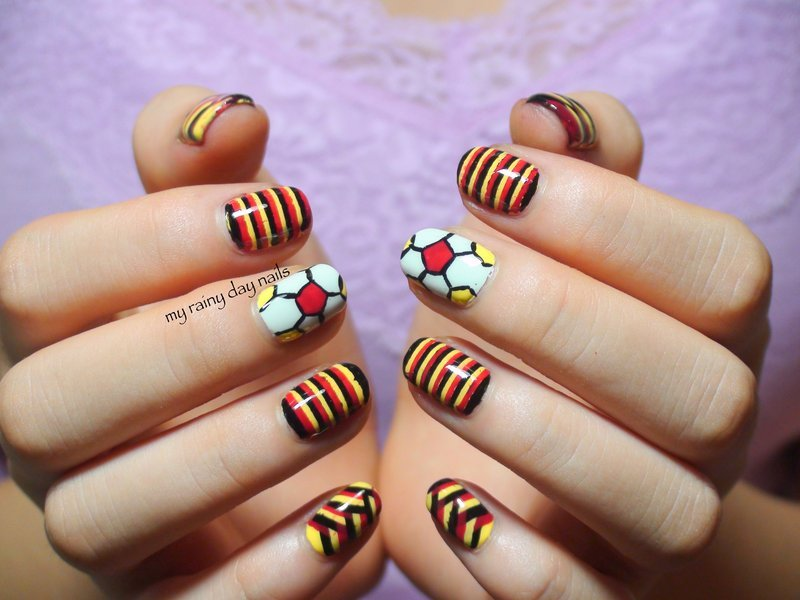 FIFA World Cup Germany Nails nail art by Nova Qi (My Rainy Day Nails)
