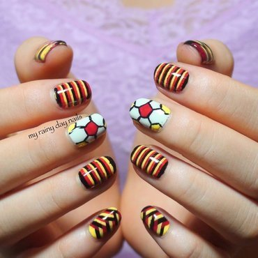 FIFA World Cup Germany Nails nail art by Nova Qi (My Rainy Day Nails)