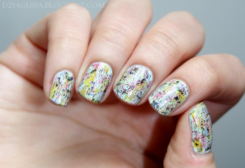 Distressed Nail Art.  nail art by Magda