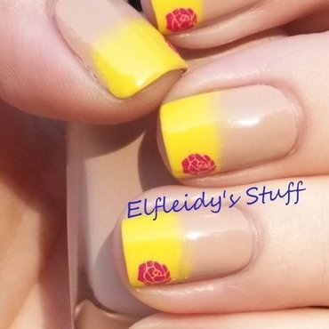 Gradient French with stamping nail art by Jenette Maitland-Tomblin