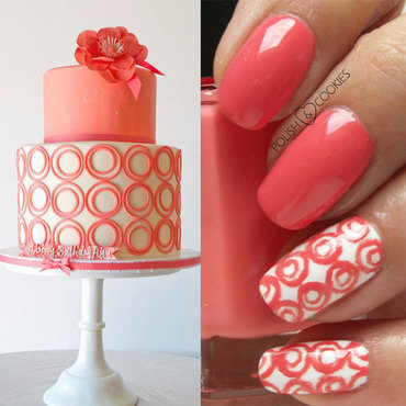 Insired by a cake - part 7 nail art by PolishCookie