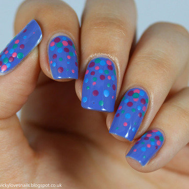 Barry M Dotticure nail art by Vicky Standage