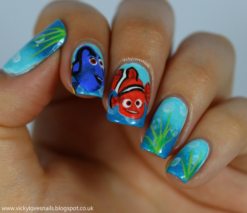 Finding Nemo Nail Art nail art by Vicky Standage