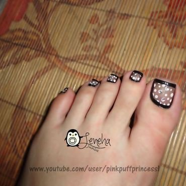 Sheer Black Toe nail art nail art by Leneha Junsu