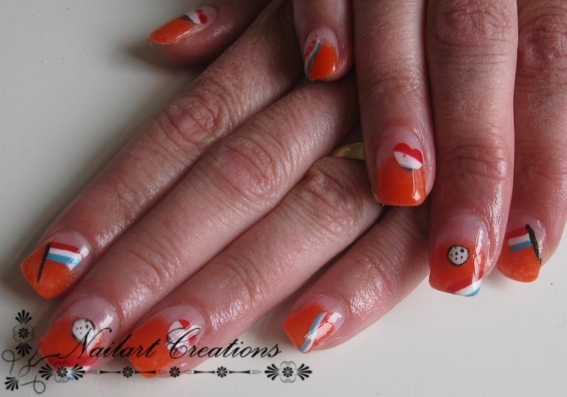 Worldcup Nailart Dutch nail art by Nailart Creations