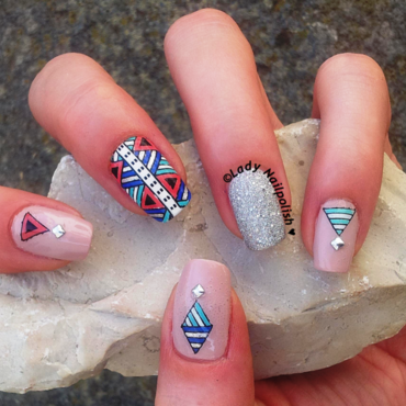 Tribal Nails nail art by Lady Nailpolish Nathalie