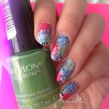 Messy Splatter Nails nail art by Jonna Dee