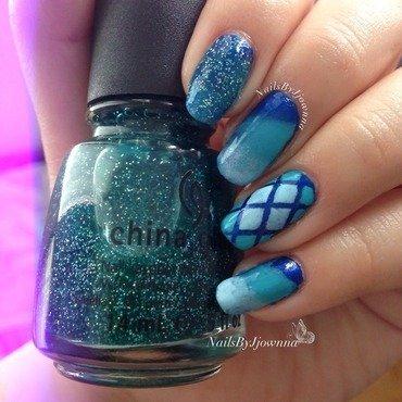 Blue-ful 💙 nail art by Jonna Dee