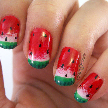 Watermelon Nail Art nail art by PolishCookie