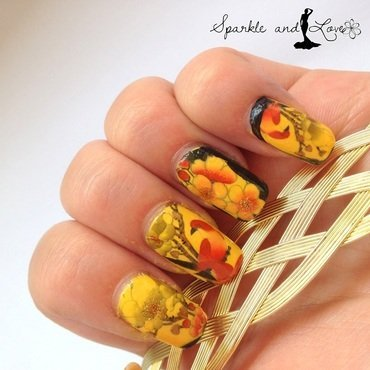 Japanese Garden nail art by Sparkle  And Love