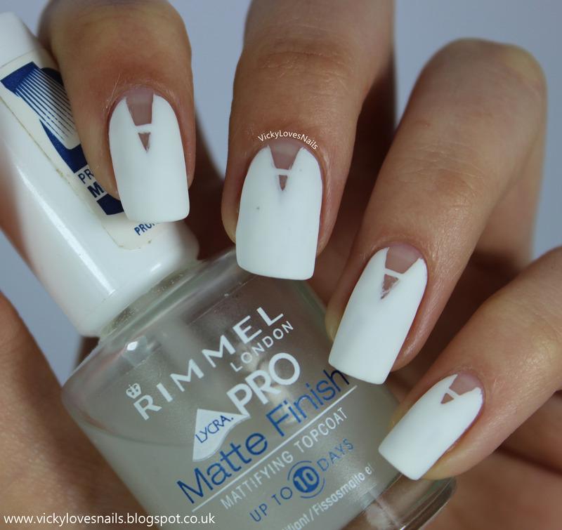 Plunge V-Gaps nail art by Vicky Standage