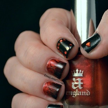 British Nail Bloggers Colour Me Crazy Red Challenge nail art by Emma B