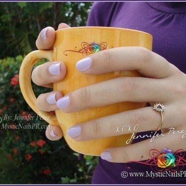 Lilac polish, so cute! by Jennifer Perez nail art by Jennifer Perez ♥ Mystic Nails