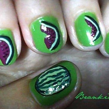 Lubenica nail art by Brankica