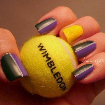 Wimbledon nails! nail art by Ginger_Elanor