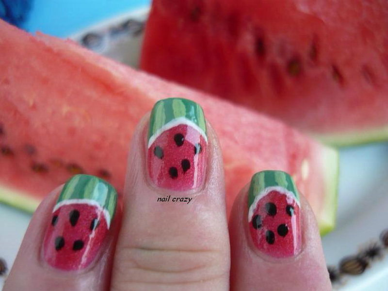 watermelons nail art by Žana