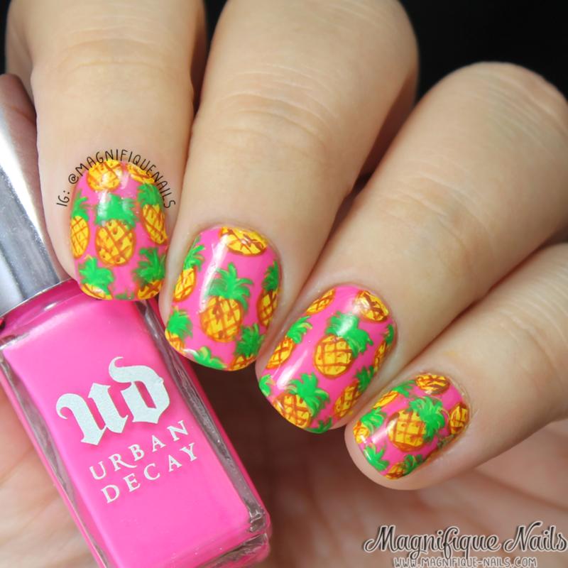 Pineapple Nails  nail art by Ana