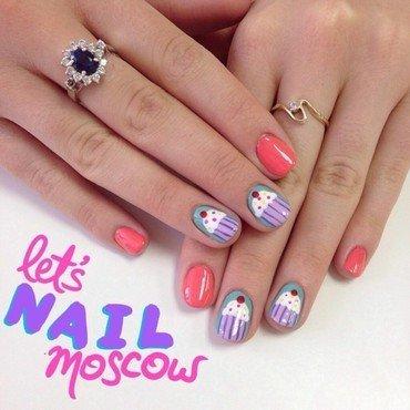 cute cupcakes nail art :) nail art by Let's Nail Moscow