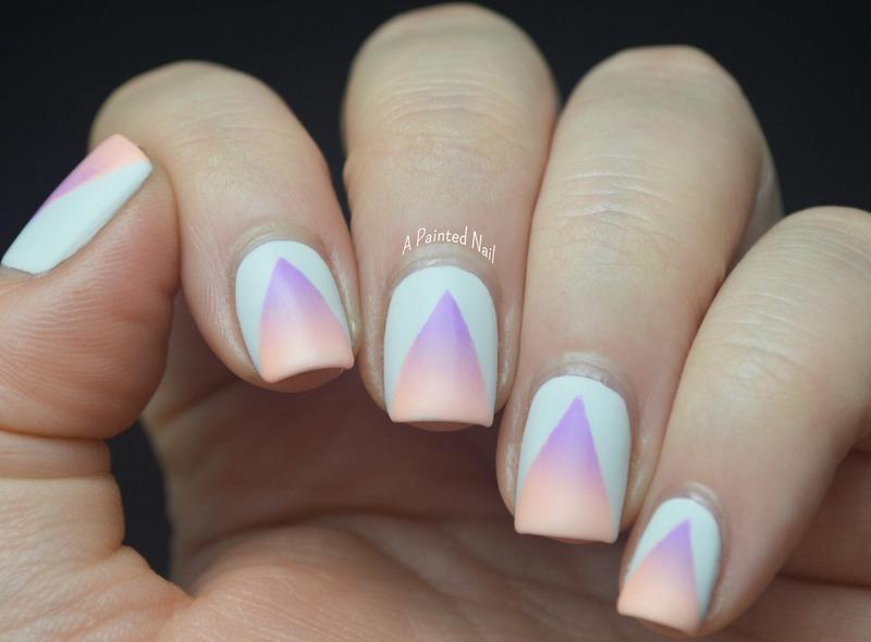 Matte Triangle Gradient Cutouts nail art by Bridget Reynolds