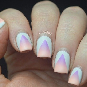 Matte Triangle Gradient Cutouts nail art by Bridget Reynolds