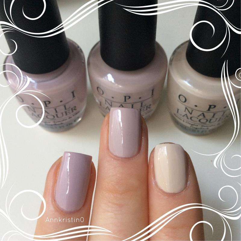 OPI Steady As She Rose, OPI My Vampire is Buff, and OPI Don't Bossa Nova Me Around Swatch by Ann-Kristin