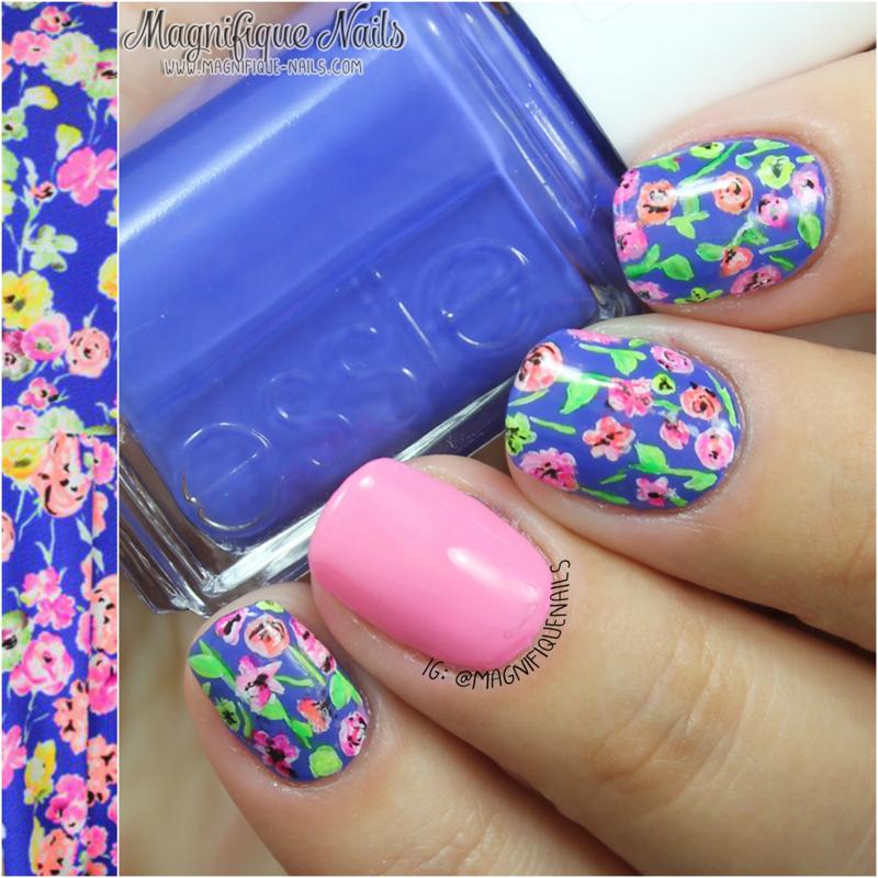 Bright Floral Nails nail art by Ana