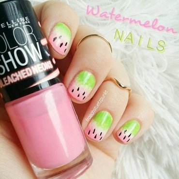 Watermelon Nails nail art by froschstuetzpunkt