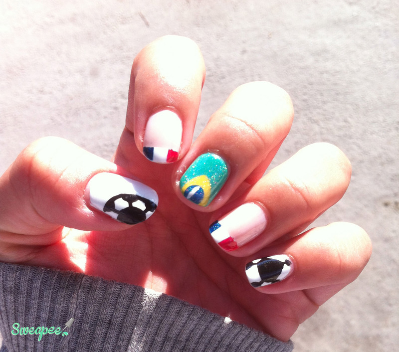 World cup 2014 - Go France ! nail art by Sweapee