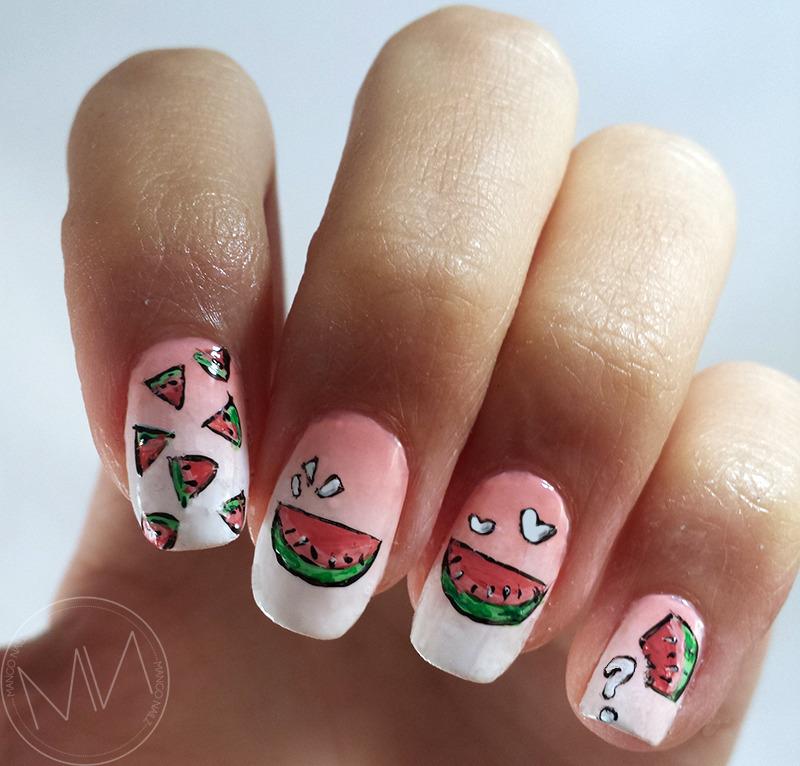 Smooth Happiness nail art by Mango Nailz