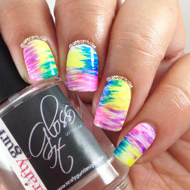 Amber connors gallery on nailpolis nailpolis museum of nail art neon fan brush nail art by amber connor prinsesfo Image collections