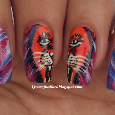 Thank you Netherlands! (World Cup) nail art by Margriet Sijperda