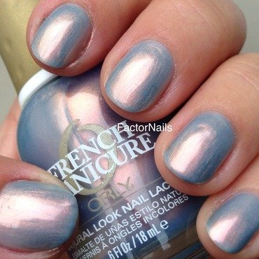 Orly Sky blue pink Swatch by Factornails
