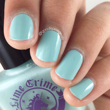 Lime Crime Once in a Blue Mousse Swatch by Sabah