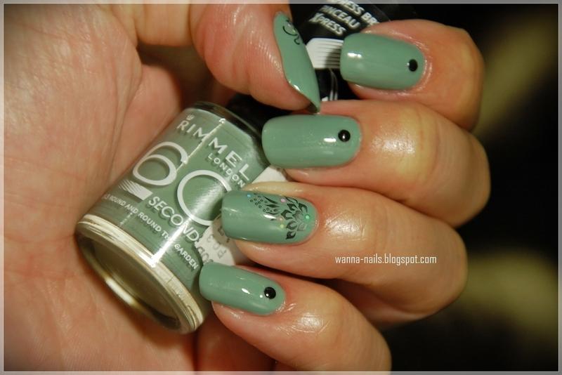 Khaki nail art by Oana Chiciu