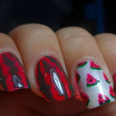 Yummylicious Watermelon nail art by Nicky