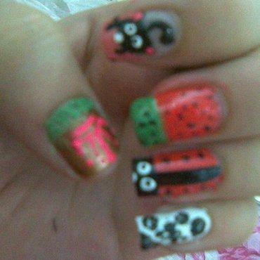 Water Melon Nail Art nail art by Leneha Junsu