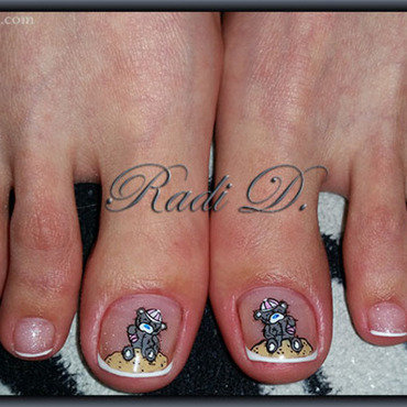 Summer Me To You toes nail art by Radi Dimitrova