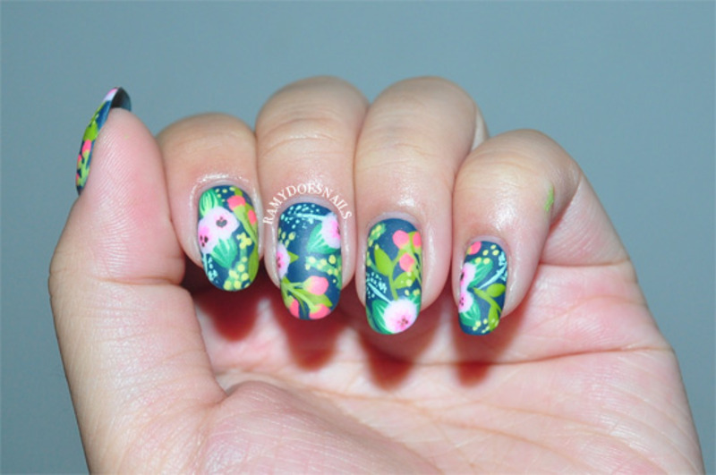 Rifle Paper Co. Inspired Florals nail art by Ramy Ang - Nailpolis ...