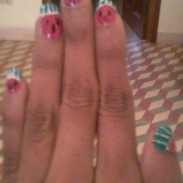 watermelon nail art nail art by reena  dsa