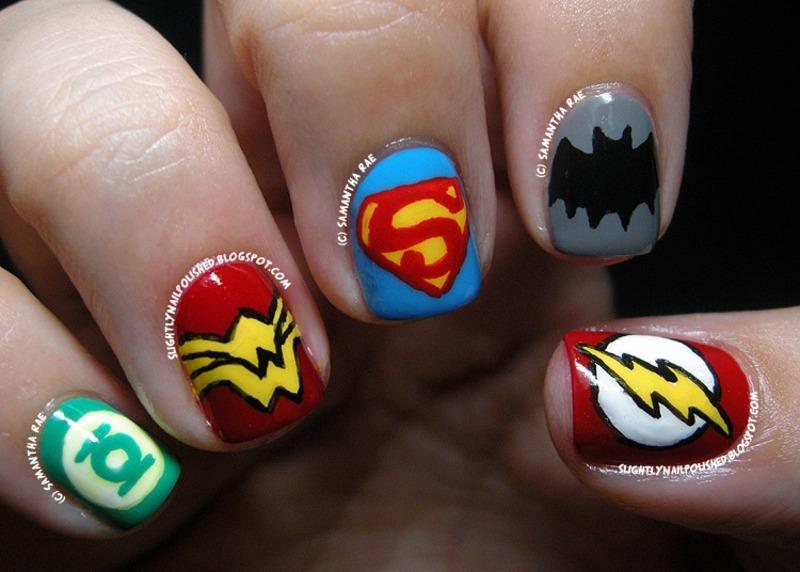 The Justice League nail art by Samantha Rae - Nailpolis: Museum of ...