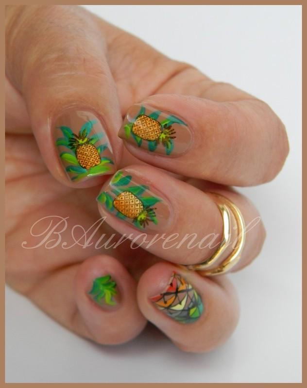 ananas nail art by BAurorenail