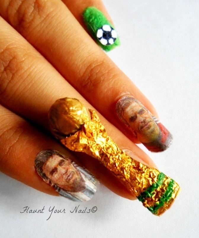 Fifa Worldcup 2014 Finals!! nail art by Vidula Kulkarni