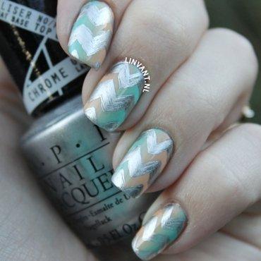 Chevchrome nail art by Lin van T