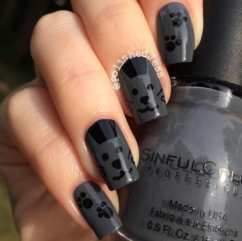 Kitty Nails  nail art by PolishedJess
