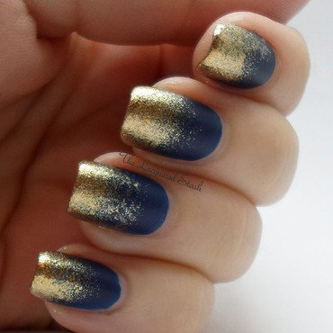 Frosted Gold Tips nail art by Emma N.