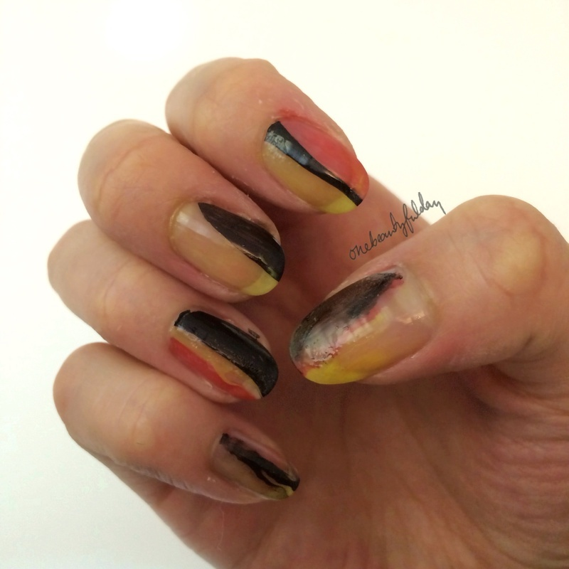 Germany for the win nail art by onebeautyfulday