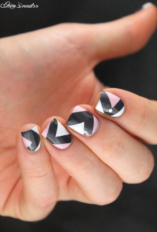 geometric nail art nail art by Cocosnailss